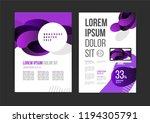 vector brochure template design ... | Shutterstock .eps vector #1194305791
