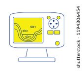 icon of echo sounder  . thin... | Shutterstock .eps vector #1194306454
