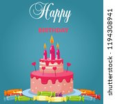 birthday illustration with... | Shutterstock .eps vector #1194308941