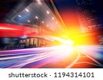 speed motion in the city | Shutterstock . vector #1194314101