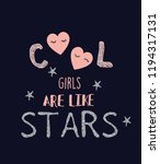 cool girls stars slogans | Shutterstock .eps vector #1194317131