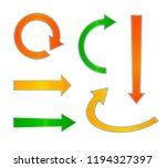 vector set of colorful arrows ... | Shutterstock .eps vector #1194327397