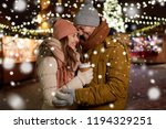 winter holidays  hot drinks and ... | Shutterstock . vector #1194329251