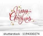 merry christmas greeting card ... | Shutterstock .eps vector #1194330274
