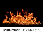 texture of flame  isolated on... | Shutterstock . vector #1194331714