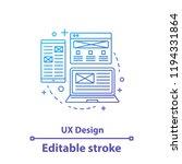 ux design concept icon. app...