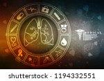 healthy human lungs 2d... | Shutterstock . vector #1194332551