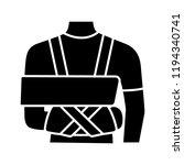 shoulder immobilizer glyph icon.... | Shutterstock .eps vector #1194340741