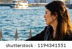 woman watching bosphorus in... | Shutterstock . vector #1194341551