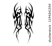 tattoo art tribal spike designs ... | Shutterstock .eps vector #1194341554