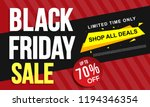 black friday sale banner layout ... | Shutterstock .eps vector #1194346354