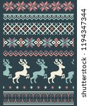 vector ugly sweater seamless... | Shutterstock .eps vector #1194347344