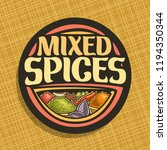 logo for spices  in round label ... | Shutterstock . vector #1194350344