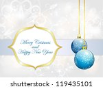 abstract christmas background... | Shutterstock .eps vector #119435101