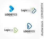 logistics logo set arrows theme | Shutterstock .eps vector #1194353974