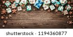 christmas decorations and gifts ... | Shutterstock . vector #1194360877