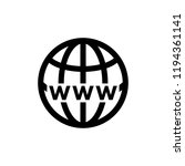 globe icon related to internet... | Shutterstock .eps vector #1194361141