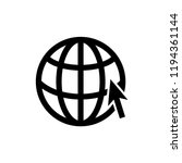globe icon related to internet... | Shutterstock .eps vector #1194361144