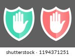 security shield icon.shield... | Shutterstock .eps vector #1194371251