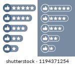 consumer rating flat icon.... | Shutterstock .eps vector #1194371254