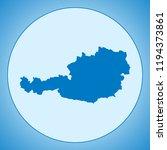 map of austria | Shutterstock .eps vector #1194373861