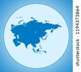 map of asia | Shutterstock .eps vector #1194373864