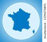 map of france | Shutterstock .eps vector #1194373891