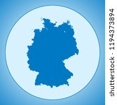 map of germany | Shutterstock .eps vector #1194373894
