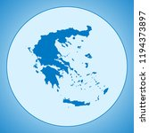 map of greece | Shutterstock .eps vector #1194373897