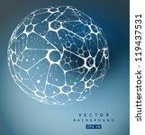 vector nano sphere | Shutterstock .eps vector #119437531