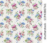 seamless floral pattern with... | Shutterstock .eps vector #1194380761