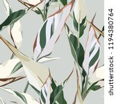 seamless floral pattern with... | Shutterstock .eps vector #1194380764