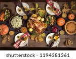 thanksgiving celebration... | Shutterstock . vector #1194381361