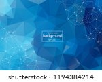 geometric dark blue polygonal... | Shutterstock .eps vector #1194384214