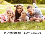 young family is spending time...   Shutterstock . vector #1194386101