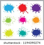 colorful paint splatters.paint... | Shutterstock .eps vector #1194390274