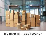 many packages in room | Shutterstock . vector #1194392437