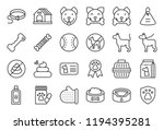 cute dog related icon set such... | Shutterstock .eps vector #1194395281