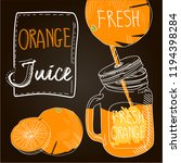 orange fresh juice | Shutterstock .eps vector #1194398284