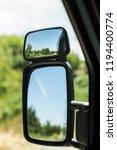 side mirror of a truck | Shutterstock . vector #1194400774