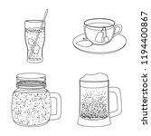 vector illustration of drink... | Shutterstock .eps vector #1194400867