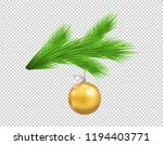 christmas tree branch with... | Shutterstock .eps vector #1194403771