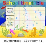 school timetable with marine... | Shutterstock .eps vector #1194409441