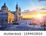madrid  spain. cathedral santa... | Shutterstock . vector #1194413014