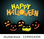 halloween background with text... | Shutterstock .eps vector #1194414334