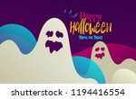 happy halloween poster with...   Shutterstock .eps vector #1194416554