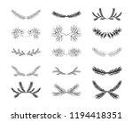 set of vintage hand drawn... | Shutterstock .eps vector #1194418351