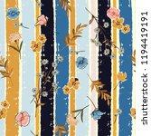 beautiful meadow flowers on...   Shutterstock .eps vector #1194419191