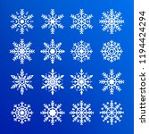 snowflake set. abstract... | Shutterstock .eps vector #1194424294