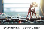 piano and christmas decoration... | Shutterstock . vector #1194425884
